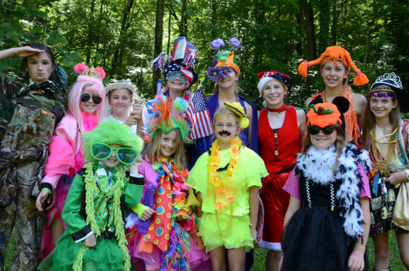 Campers dress up everyday at camp