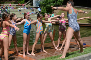 campers learning new stroke