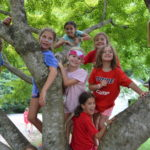 Campers in tree at Hannah Ford Farm