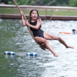 Camper faces are the best on the Tarzan Swing!
