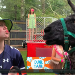 Minnie Kisses a Llama at County Fair!